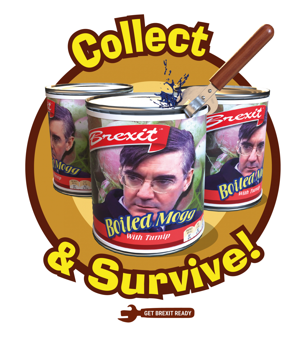 tinned mogg brexit t shirt design by off on one