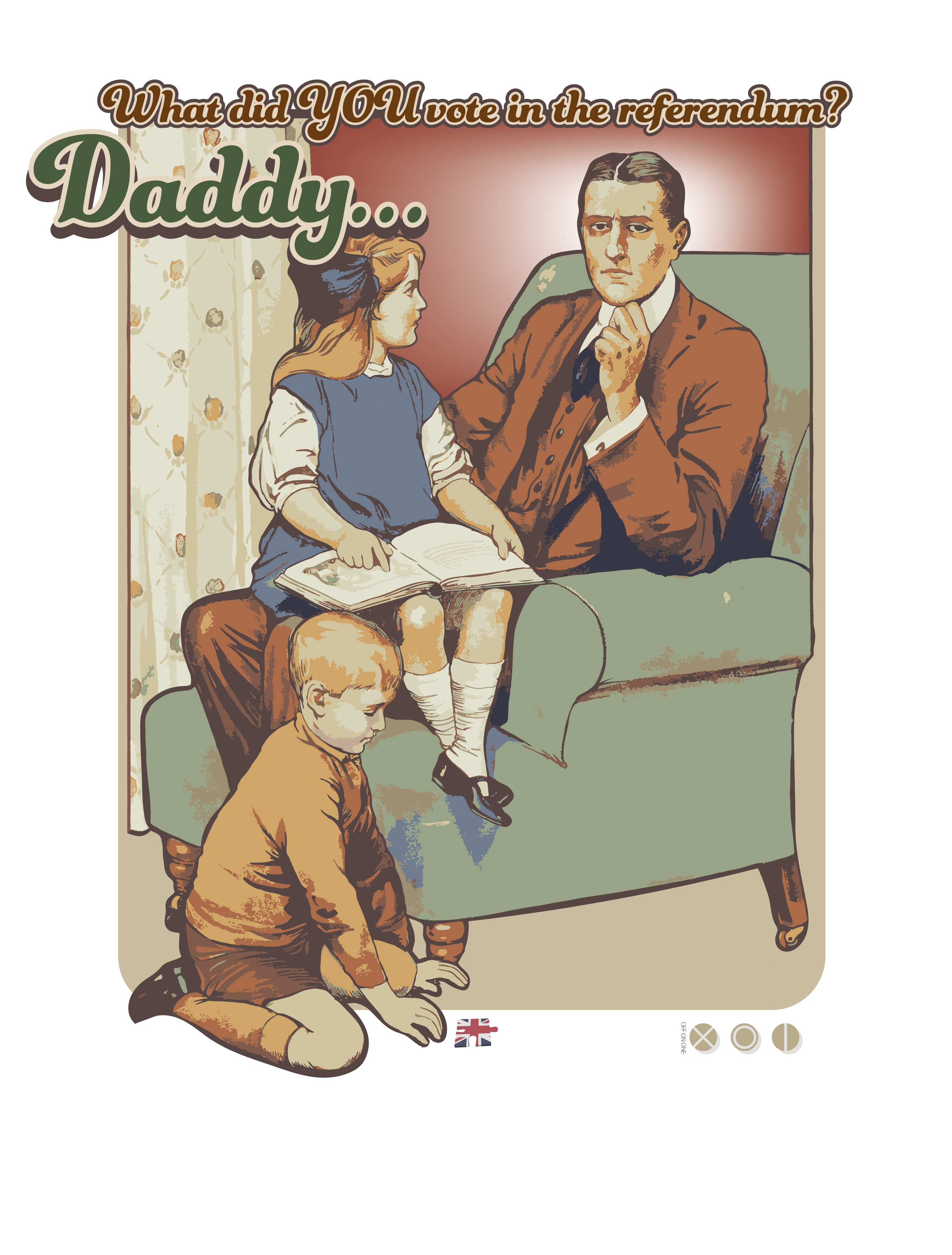 daddy what did you vote t shirt design for brexit