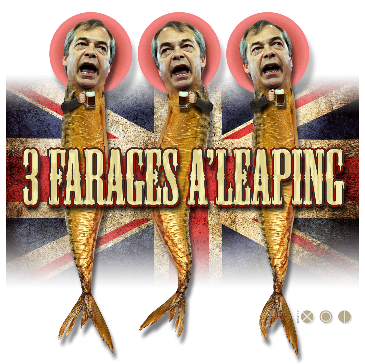 kipper vfarage rampant - brexit t shirt design by off on one